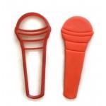 Microphone cookie cutter fondant cutter