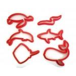 Sea Creature cookie cutter fondant cutter set