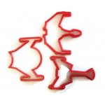 Star Trek Klingon and Romulan ship cookie cutter set