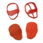 Stormshadow and Snake Eyes Gijoe cookie cutter fondant cutter set