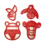 Winnie The Pooh Tigger, Piglet, Pooh and Eeyore cookie cutter set