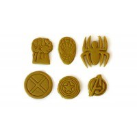 Marvel Comic Superhero Fondant cutter Cookie cutter set for Cupcakes or Cakepops
