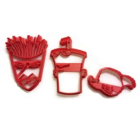 Aqua Teen Hunger Force Frylock Master Shake Meatwad Cookie Cutter Set