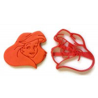 The Little Mermaid Ariel Face cookie cutter