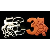 Batman age 3 Cookie Cutter
