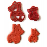 Corgi Dog Butt cookie cutter fondant cutter set