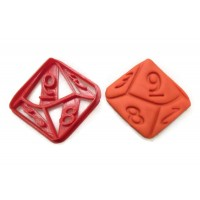 D10 10 Sided Die cookie cutter fondant cutter