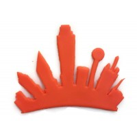 Dallas Texas City Skyline Fondant Cutter