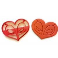 Deadpool Heart Cookie Cutter