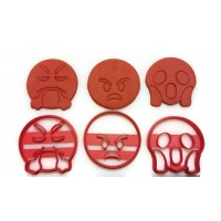 Emoji Angry Cookie Cutter Set 1