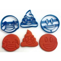 3 Piece Emoji Icon Cookie Cutter Set