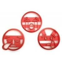 Emoji Tears cookie cutter set
