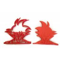 Dragonball Z Goku cookie cutter fondant cutter