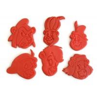 Gummi Bears Cubbi, sunni, gruffi, zummi, tummi, grammi cookie cutter set