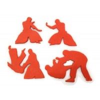 Jiu Jitsu cookie cutter fondant cutter set