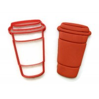 Latte to Go cookie cutter fondant cutter