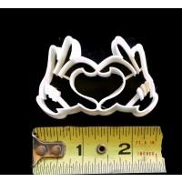 Mickey Mouse Heart Hands Fondant Cutter