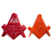 Freemason Masonic Square and Compasses cookie cutter fondant cutter