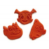 Vampirina Cookie Cutters 3 pack including Vee, Demi, and Gregoria