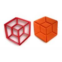 Hypercube Tesseract cookie cutter fondant cutter