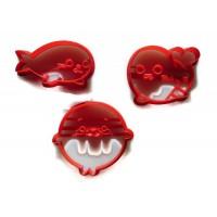 Kawaii Seal cookie cutter set