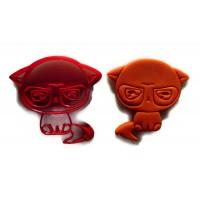 Kawaii Grumpy Cat cookie cutter