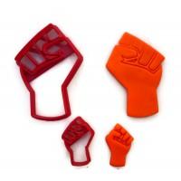 Power Fist Cookie Cutter Fondant Cutter set