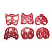 PJ Masks Catboy Gekko Owlette Romeo Luna Girl Ninja Lino fondant cutter set
