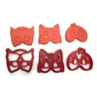 PJ Masks Catboy, Gekko, Owlette fondant cutter set for cupcakes