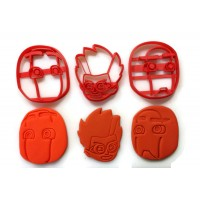 PJ Masks Romeo, Night Ninja, Ninja Linos villain cookie cutter set