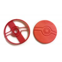 Pokemon Pokeball cookie cutter