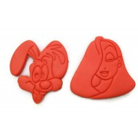 Roger Rabbit and Jessica Rabbit cookie cutter set
