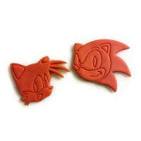 Sonic the Hedgehog Sonic and tails cookie cutter set