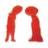 Single Sad Guy Single Sad Girl cookie cutter fondant cutter set
