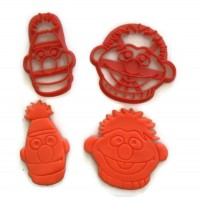 Sesame Street Bert and Ernie cookie cutter fondant cutter set