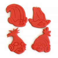 Trolls Branch, Creek, DJ Suki, Poppy cookie cutter set