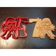 Kylo Ren cookie cutter with the number 7. Great for your kid's seventh year birthday party. Celebrate their 7th with the dark side