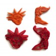 Statue of Liberty Face and Torch cookie cutter set